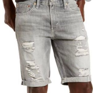 Levi's 511 Gray Distressed Cutoff Jeans Size 29
